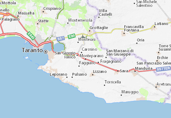 Mappe-Piantine Monteparano