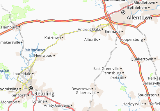 Carte-Plan Fredericksville