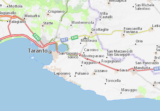 Mappe-Piantine San Giorgio Ionico