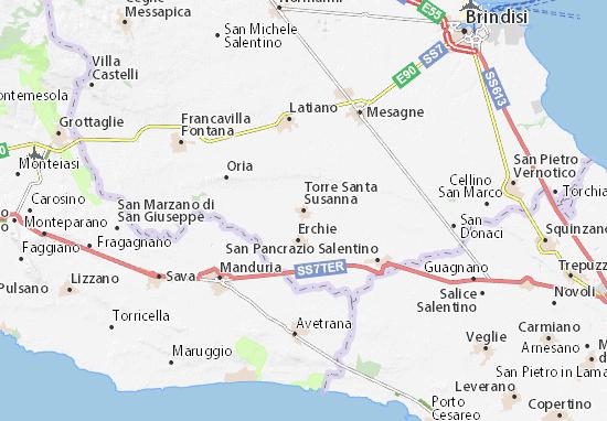 Karte Stadtplan Torre Santa Susanna
