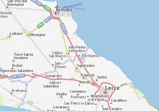 Karte Stadtplan Torchiarolo