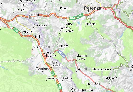 Cartina Basilicata.Mappa Michelin Sasso Di Castalda Pinatina Di Sasso Di Castalda Viamichelin