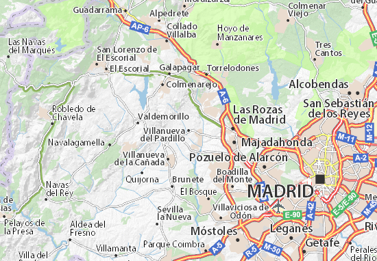 Mapas-Planos Villanueva del Pardillo