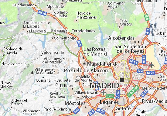 Mappe-Piantine Las Rozas de Madrid