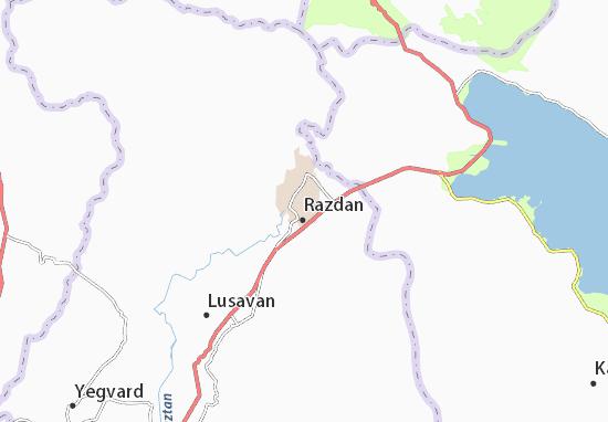 Mapa Plano Hrazdan