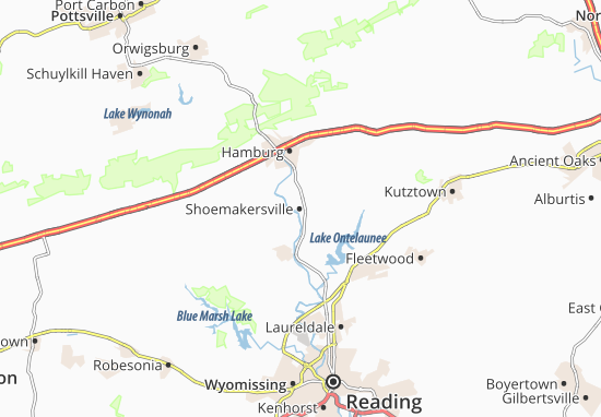 Carte-Plan Shoemakersville