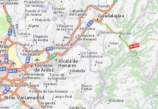 Los Santos de la Humosa Map