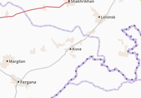 Map Of Kuva Michelin Kuva Map ViaMichelin - Leninsk map