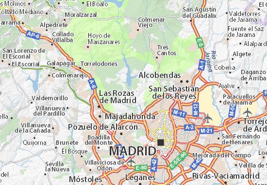 Mapa El Pardo  plano El Pardo  ViaMichelin