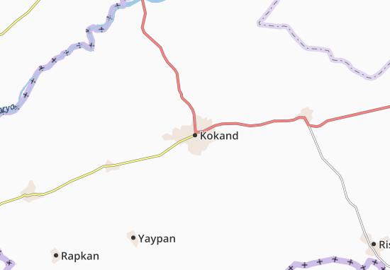 Mapa Plano Kokand