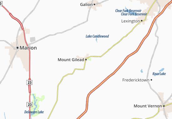 Mount Gilead Map