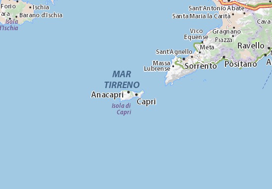 Karte Stadtplan Capri