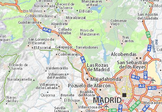 Las Rozas Madrid Mapa.Mapa Encinar De Las Rozas Plano Encinar De Las Rozas