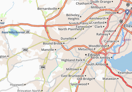 South Bound Brook Map