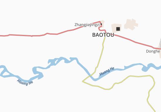 Kaart Plattegrond San-Kai-Hu-Tung