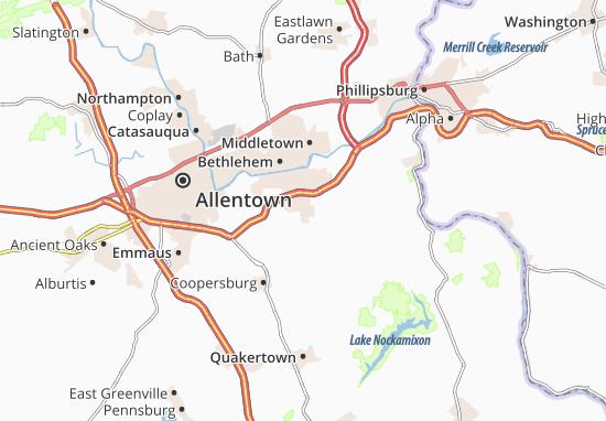 Mapas-Planos Hellertown
