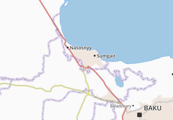 Kaart Plattegrond Sumqayt