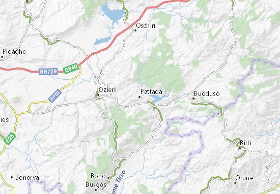 Cartina Sardegna Grande.Mappa Michelin Pattada Pinatina Di Pattada Viamichelin