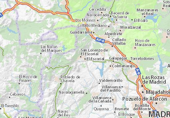 Karte Stadtplan El Escorial