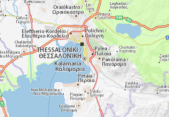 Kalamaria Map