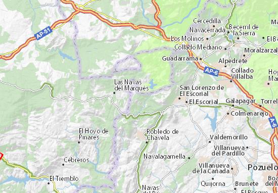 Mapa Santa Maria De La Alameda Plano Santa Maria De La Alameda