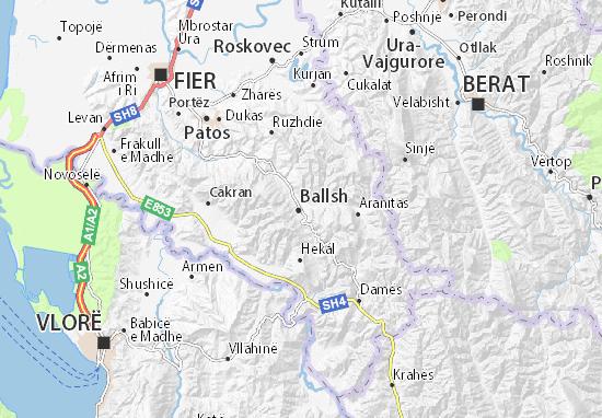 Mapa Plano Ballsh