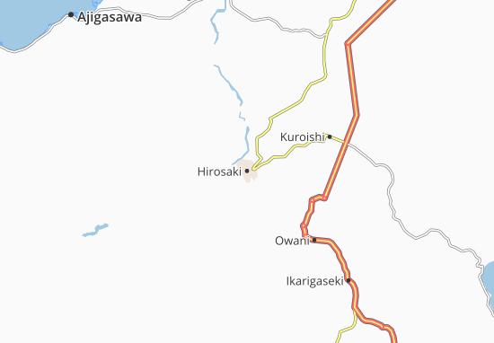 Kaart Plattegrond Hirosaki