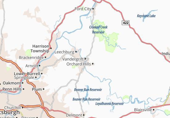 Vandergrift Map