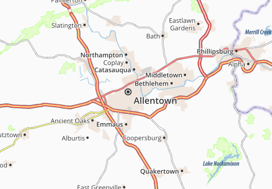Carte-Plan Allentown