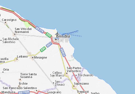 Cartina Puglia Cellino San Marco.Michelin Masseria Villanova Map Viamichelin