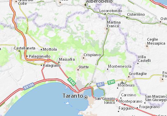 Crispiano Map