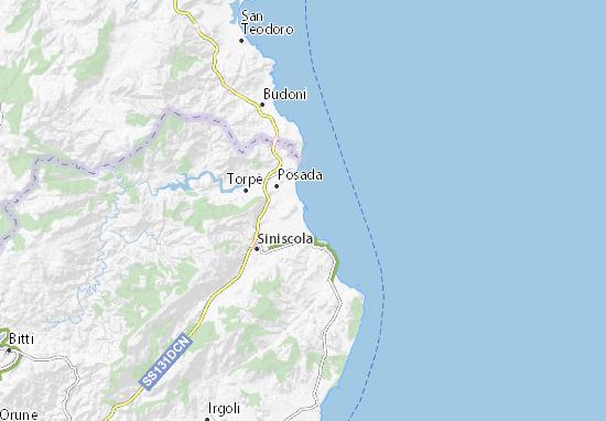 Cartina Satellitare Sardegna.Mappa Michelin La Caletta Pinatina Di La Caletta Viamichelin