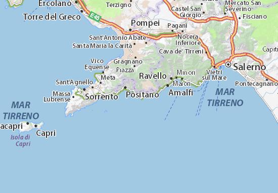 Mappe-Piantine Praiano