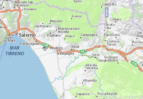 Cartina Italia Salerno.Mappa Michelin Eboli Pinatina Di Eboli Viamichelin