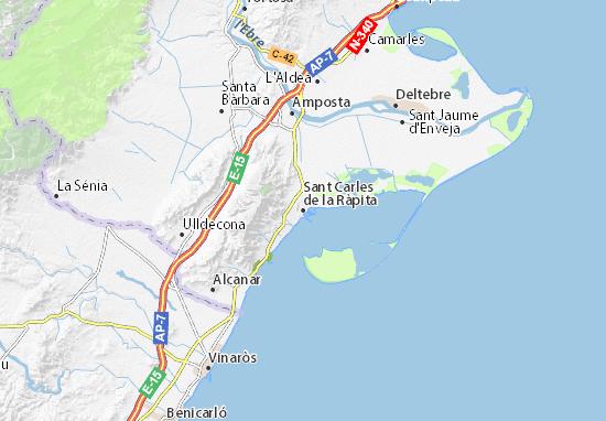 Michelin Sant Carles De La Ràpita Map Viamichelin