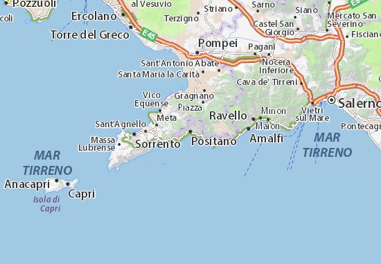 Karte Stadtplan Positano