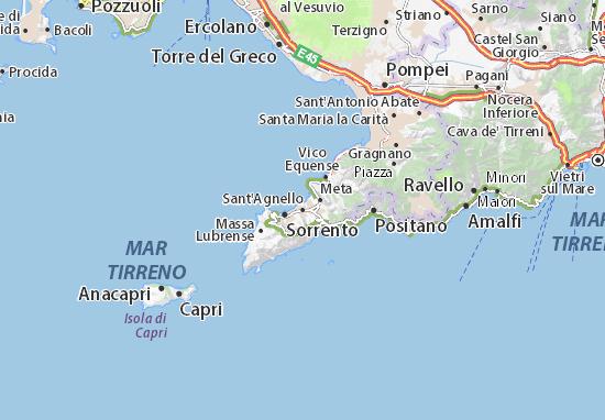 Mapas-Planos Sant'Agnello