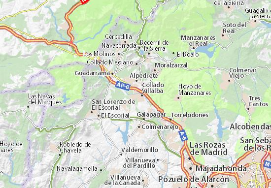 Los Negrales Map