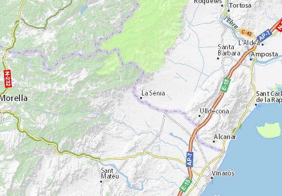Mapa la s nia plano la s nia viamichelin - El tiempo en la senia tarragona ...