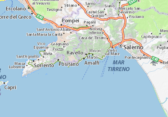 Carte-Plan Amalfi