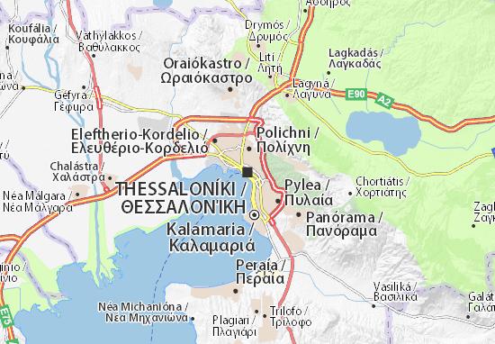 Carte Routiere Crete En Francais.Carte Detaillee Thessalonique Plan Thessalonique Viamichelin