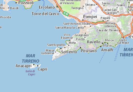 Piano di Sorrento Map