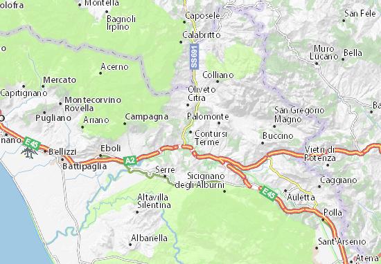 Mappe-Piantine Contursi Terme