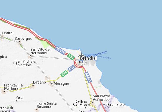 Cartina Aeroporti Puglia.Mappa Michelin Aeroporto Di Papola Casale Pinatina Di Aeroporto Di Papola Casale Viamichelin