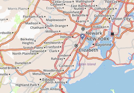 Roselle Map