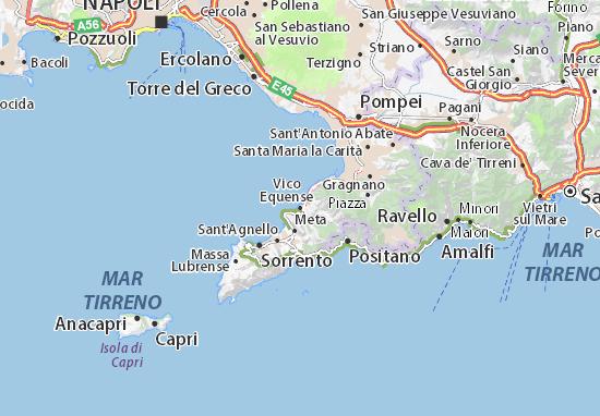 Karte Stadtplan Vico Equense