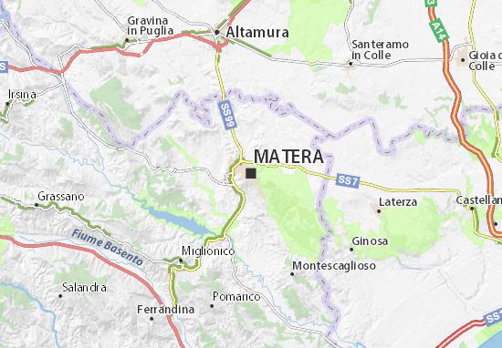 Cartina Stradale Basilicata Puglia.Mappa Matera Cartina Matera Viamichelin