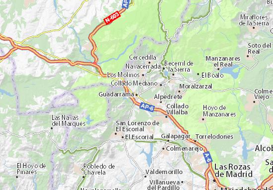 Karte Stadtplan Guadarrama