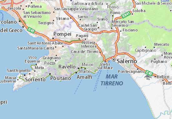 Maiori Italy Map.Map Of Sant Erasmo Michelin Sant Erasmo Map Viamichelin