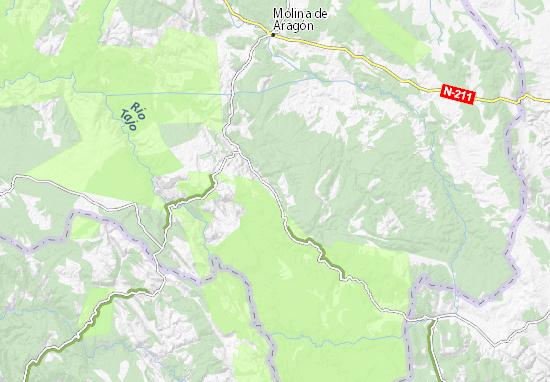 Molina De Aragon Mapa.Mapa Pinilla De Molina Plano Pinilla De Molina Viamichelin